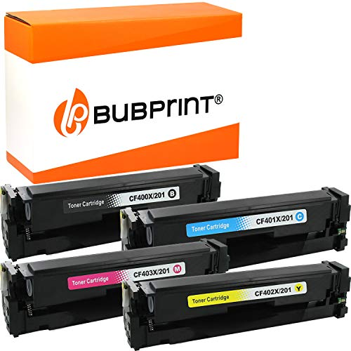 Bubprint Kompatibel Toner als Ersatz für HP CF400X CF401X CF402X CF403X 201A 201X für Color Laserjet MFP M277DW M277N M270 M252DW M252N M274DN M274N Multipack 4er-Pack