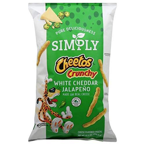 Simply Cheetos Crunchy White Cheddar Jalapeño Flavored Snacks, 8.5 Oz