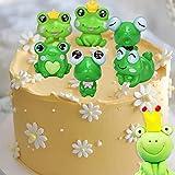 8 PCS Frog Cake Decoration Little Frog Cake...