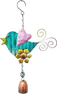 guizhoujiufu Garden Decor Weathervanes Wind Chimes Outdoor Iron Art Sequin Wings Bird Wind Chimes Bells Hanging Pendant Wi...