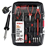 <span class='highlight'>Hi</span>-<span class='highlight'>Spec</span> 35 <span class='highlight'>Piece</span> All-In-One Soldering and Electronics Repair Kit with Adjustable Temperature 25W Soldering Iron, Anti-Static Tools, Precision S<span class='highlight'>cr</span>ewdrivers & Bits, Bit Sockets & Pliers for Electronics & Computer Maintenance Set