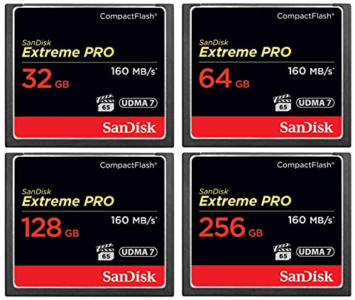 SanDisk Extreme PRO Compact Flash Memory Card UDMA 7 Speed Up to 160MB/s (128GB)
