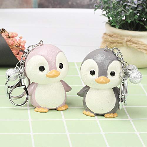 Gyjcd Twee Koreaanse Schattige Pinguïn Schattige Pop Sleutelhanger Doodle Cadeau Paar Sleutelhanger Student Sleutelhanger