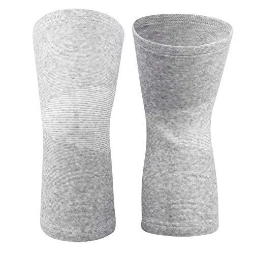 Knieschoner Elastic Bamboo Carbon Faser Warm Keeper Knie Ärmel Protector Sport Pads(Grau)