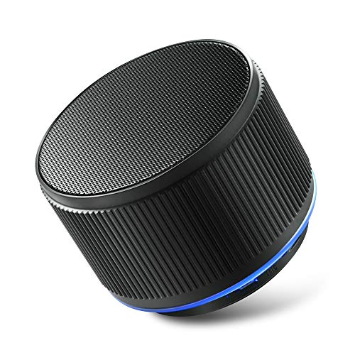 Alfway Mini Small Portable Wireless Bluetooth Speaker with LED Light and Built-in Mic, Supports AUX Audio Input and TF Card Playing (Green)