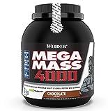 WEIDER Mega Mass 4000 Weight Gainer Shake zum Zunehmen, Schokolade, mit Protein, Creapure Kreatin Monohydrat, komplexen Kohlenhydraten, Vitaminen und Mineralstoffen – Muskelaufbau Shake 3kg