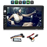 2 Din Car MP5 Player Bluetooth Touch Screen Car HD Stereo, Support Bluetooth/Miroorlink/USB/AUX/FM/TF,with Rear Camera and Remote Control