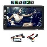 Auto-MP5-Player, 2 DIN, 12 V, Bluetooth, Touchscreen, Stereo, HD, unterstützt Bluetooth/USB-Port/AUX/FM/TF/Miroorlink, mit Rückkamera und Fernbedienung