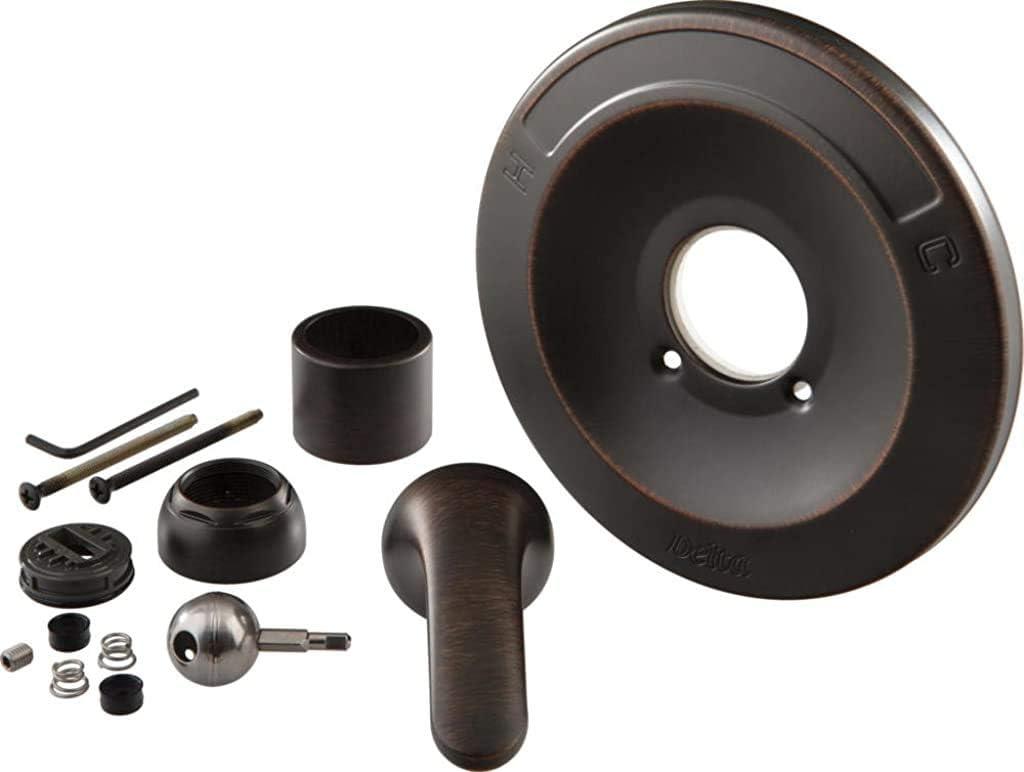delta faucet shower handle renovation repair trim kit for delta 600 series tub and shower trim kits venetian bronze rp54870rb