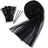 Bug Insect Mosquito Fly Bird Net Barrier Hunting Blind Plant Protecting Garden Netting (3 m x 4 m, Black)