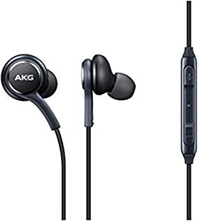 OEM Stereo Headphones with in-line Remote & Microphone for Samsung Galaxy S8, S8 Plus S9, S9 Plus Note 8 Note 9 [Grey] Bulk Packaging (Renewed)