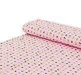 Nadeltraum Baumwoll - Jersey Stoff Früchte Kreise rosa -