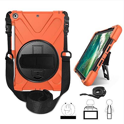 Strnry iPad 10.2 7Th Generation Case voor iPad 10.2 2019 Robuuste full-body beschermhoes met draaibare polsband en potloodhouder