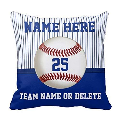 Sccarlettly Baseball Kissen Personalisiertem Namen Nummer Team Casual Chic Simplicity Mode Bequem Chic Täglich Gebrauch (Color : Colour, Size : Size)