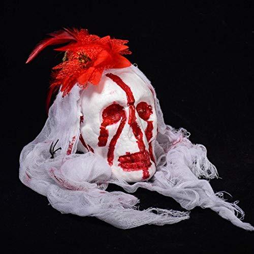 Halloween Bar Schaumblut Totenkopf Spukhaus Hängende Dekoration, hohe Qualität(Weiß)