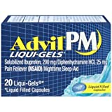 Advil PM Pain Reliever/Nighttime Sleep-Aid Liqui-Gels (Pack of 4)