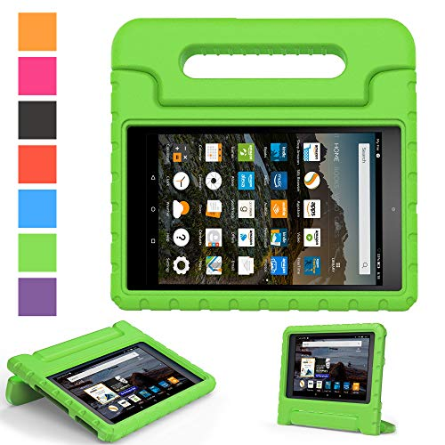 2017 Fire 7 inch case- Kids Shock Proof Convertible Handle Light Weight Super Protective Stand Cover for Amazon Fire Tablet (7 Display -Universal 2015 Fire 7 inch )(2017 2015 Fire 7, Green)