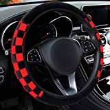 ZaCoo Sports Style Soft Plush Car Steering Wheel Covers Universal...