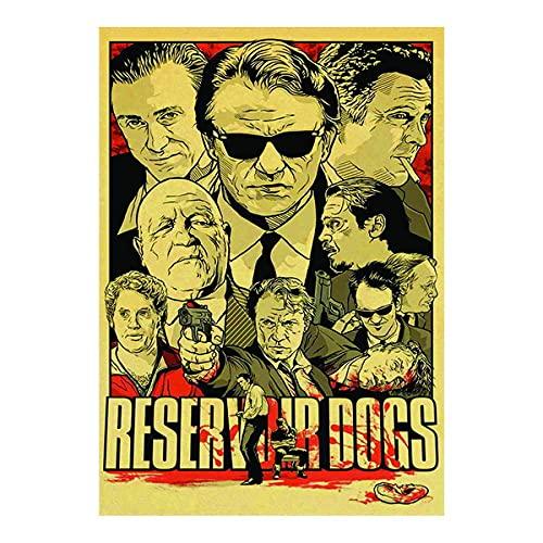 映画ポスター金属錬鉄看板Reservoir Dogsウォールアートデコレーションリビングルームアートコーヒーバーシグネチャーハウスデコレーションギフトオーナメント8x12インチ
