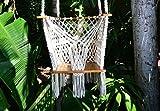 Columpio para bebés Boho hecho a mano Algodón orgánico de color blanco, para interiores y exteriores Imagen del producto