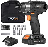 TACKLIFE 18V Schlagtreiber, Maximales Drehmoment 180Nm, 2.0 Ah, 3600 Impact Rate, 2800 RPM, 6.35mm Chuck, Quick Charger 1H, LED Work Light, PID02B Werkzeugtasche