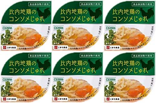 比内地鶏のコンソメじゅれ 6缶セット (85g×6個)