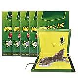 ZWSM Trampas para Ratones De Gran Tamaño, Tablero De Pegamento para Ratas, Trampas para Ratas Muy Pegajosas, Uso Interiores Y Exteriores (Paquete De 5)