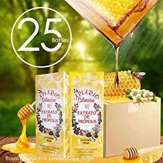 $30 Off with Coupon - Official Distributor - 1 Box (25 Bottles) Apiario Silvestre Brazilian Green Bee Propolis Liquid - Cereal Alcoholic Extract 30 ml