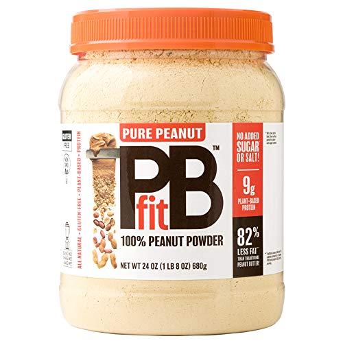BetterBody Foods Pure Peanut PBfit 100% Powdered Peanut Butter, Gluten-Free Protein Powder (24 oz)