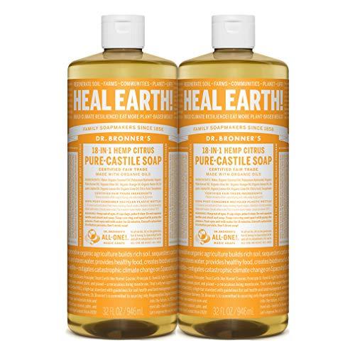 Pure Castile Liquid Soap – 32 oz. – 2 Pack