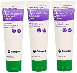 Baza Moisture Barrier Antifungal Cream - 2 Ounce Tube - Pack of 3