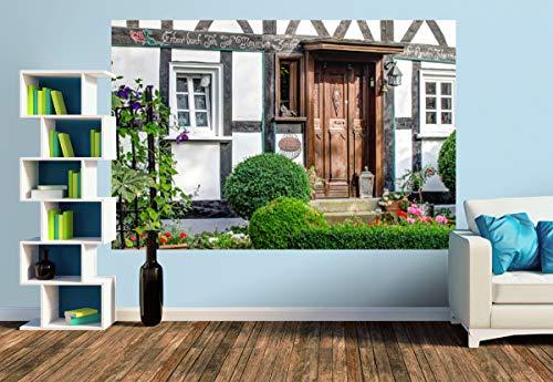 Premium Foto-Tapete Fachwerk Impressionen (versch. Größen) (Size M | 279 x 186 cm) Design-Tapete, Wand-Tapete, Wand-Dekoration, Photo-Tapete, Markenqualität von ERFURT