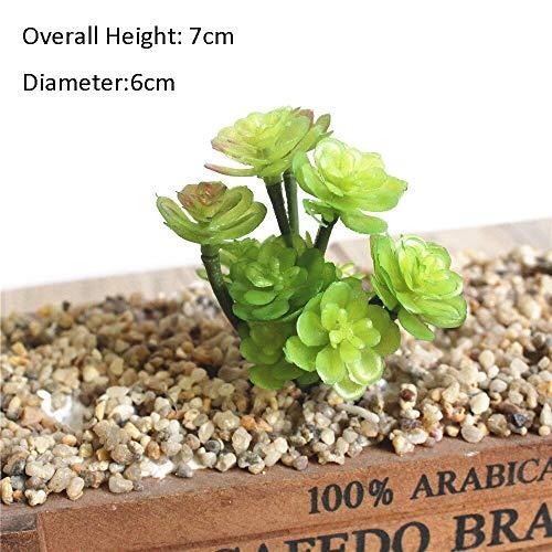 MHHDD 39 Estilos de Plantas suculentas Artificiales Verdes para la decoración del jardín del hogar Plantas de Boda Arreglo Floral de la Pared Bonsai Plantas Falsas 11TouXiaoXianRenKe