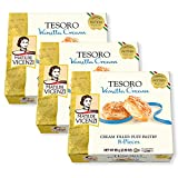 TESORO VANILLA CREAM Our vanilla cream filled Patisserie Cookies are classic Italian pastry puffs with a buttery, creamy core. As butter does not respond well to light, the pastry is protected by a special metallic wrapper. Elegant box makes a lovely...