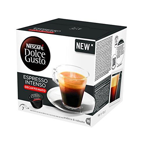 NESCAFÉ Dolce Gusto Espresso Intenso Descafeinado | Pack de 3 x 16 Cápsulas - Total: 48 Cápsulas