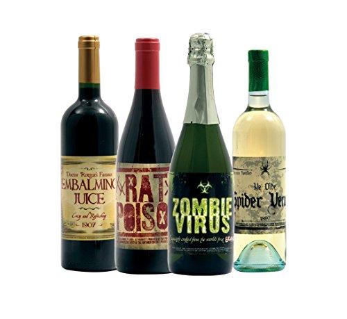 Morbid Enterprises Halloween Glow in The Dark Wine Bottle Label Stickers (8 Labels)