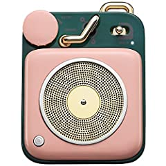 UNEXPECTED MIGHTY SOUND - Despite its size, powerful sound strength makes you feel energetic, and the crystal clarity of the sound stays steady all the way up to the max volume without any distortion. PORTABLE FOR OUTDOOR - Mini cute pocket radio wit...