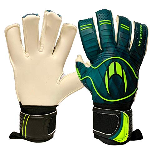 HO Soccer Eskudo Hybrid Roll/Negative Guantes De Portero, Unisex Adulto, Verde/Negro, 8,5