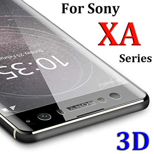Needyo-Screen Protectors 3D For Xperia XA2 Protective Glass On For Xperia XA1 Plua XA Ultra Soni Experia AX Screen Protector Tempered Glas Film For sony xa1 plus Black