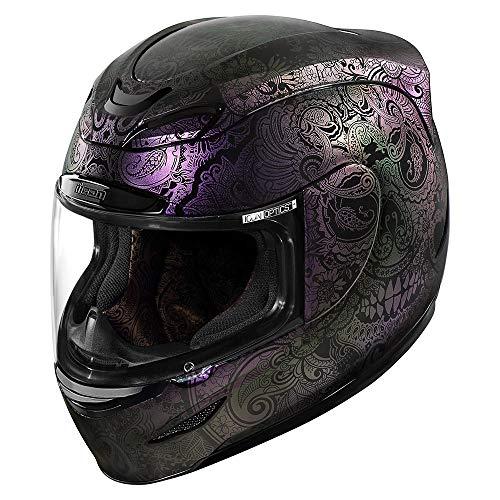 Icon Helm Airmada Chantilly Opal schwarz lila Motorradhelm Integralhelm, S