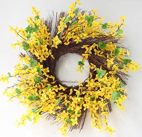 Ghirlanda Decorativa per Porta di casa, Corona di Primavera Artificiale – Anno Rotondo Bella Seta Corona trasforma Porta di casa Decorazione, Matrimonio, Home Decor