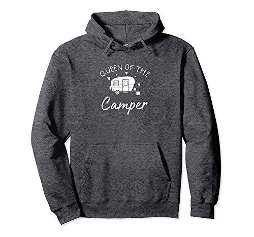 NA Sweat à Capuche Cadeau Queen of The Camper RV Camper Road Trip