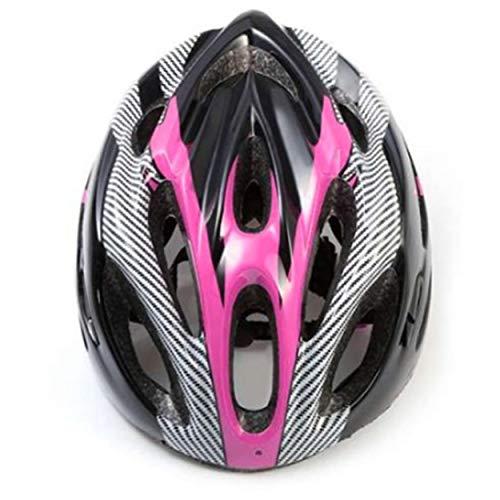 Tree-on-Life Casco de Bicicleta de montaña Casco de montaña Hueco Transpirable Casquillo de Seguridad de Fibra de Carbono Casco de Bicicleta Casco de Ciclismo al Aire Libre Negro y Rosa