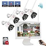 【Zwei-Wege-Audio & PIR Wärmesensor】 Tonton 1080P Audio Wireless Überwachungskamera Set 8CH...