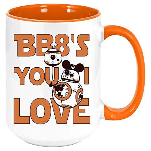 DKISEE Taza de té de café o té de Star Wars BB8 It's You I Love. Regalo para cualquier aficionado. Ideal para cualquier persona un cumpleaños, día de San Valentín.