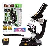 Microscopio para niños 500X Juego de microscopio para niños, juego de microscopio educativo/juego de laboratorio de ciencias/juguetes educativos regalos