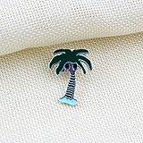 JTXZD Brosche Kokospalme Sunny Ballon Hausschuhe Cloud Star Moon Windmühle Emaille Pin Brosche Nacht Broschen Jacken Abzeichen Mode
