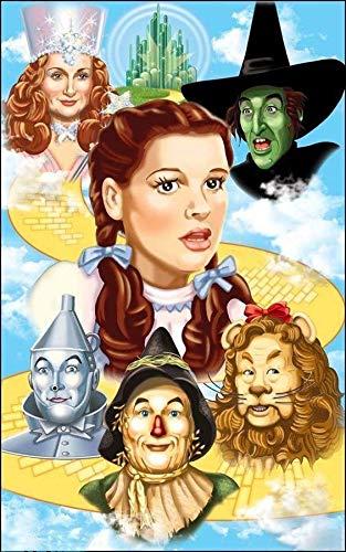 YYYKKK DIY Digitale Gemälde, Digitale Gemälde für Erwachsene und Kinder, Figuren aus dem Film Wizard of Oz, Leinwandmalerei-Kit, Heimdekoration.(40x50cm)
