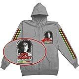 Bob Marley Manchester Tour Sudadera con capucha para hombre, color gris - gris - Medium
