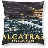 DayToy Stil Reise Alcatraz Insel Nachtszene Kunst Poster 1